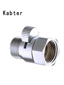 Kabter Brass Shower Flow Control Valve Shut Off Switch,Polished Chrome